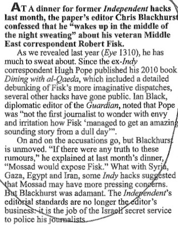 Clip from Private Eye