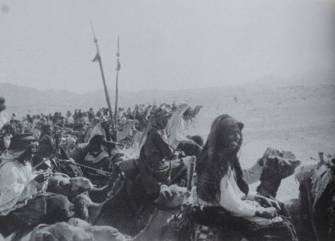 An indisputably great photo by Lawrence of the Arab army on the march