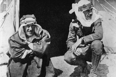T.E. Lawrence (left) and American publicist Lowell Thomas