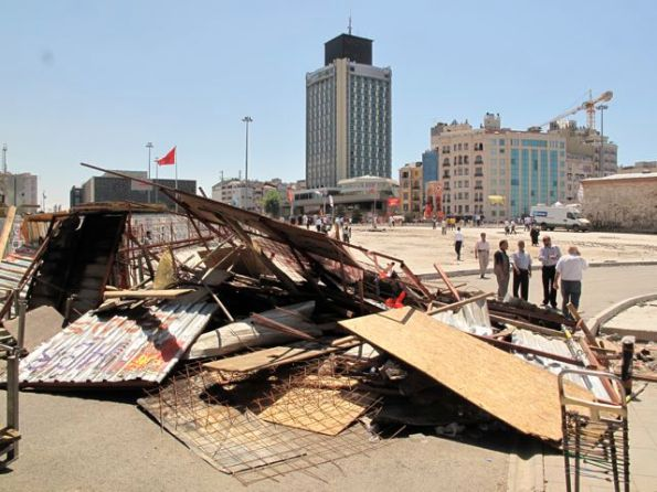 Still, there's going to be quite a lot of clearing up to do on Taksim Square!