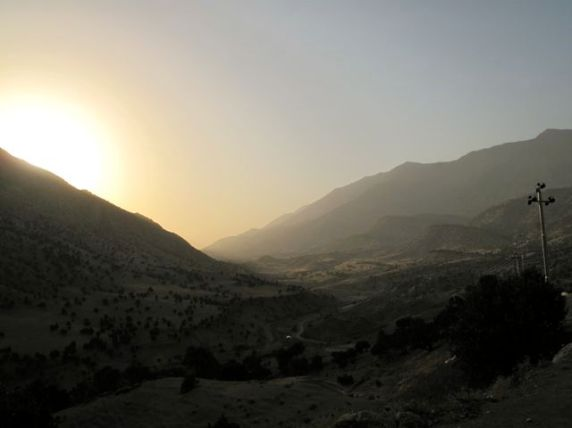 Sunset over the valley of Qandil