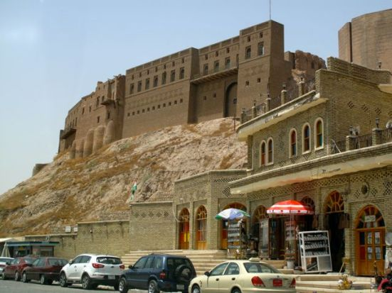 Erbil Castle from the plain. (Photo: Hugh Pope)