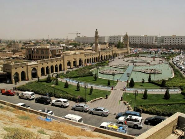 The renovated main square of Erbil, capital of the Iraqi Kurds Kurdistan Regional Government
