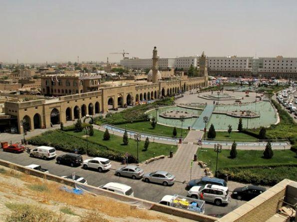 The renovated main square of Erbil, capital of the Iraqi Kurds Kurdistan Regional Government