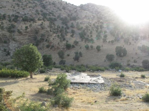 Village house in Qandil said by the PKK to have been flattened by Turkish Air Force action.