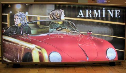 Armine in a car